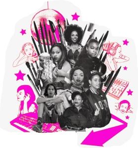 women hip hop collage sm